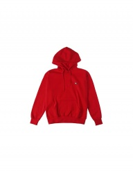 [BASIC COTTON] COLOR LOGO HOOD - RED