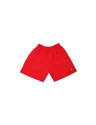 [BASIC COTTON] COLOR LOGO SHORTS - RED