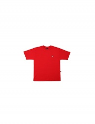 [BASIC COTTON] COLOR LOGO TOP - RED