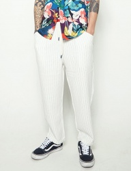 [STONYSTRIDE] STRIPE SEMI BAGGY WIDE PANTS [WHITE]