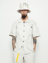 [STONYSTRIDE] 3M BACK STRIPE ALOHA SHIRTS [CREAM]