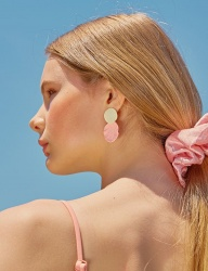 [bpb] Little Mermaid Earring [Peach]