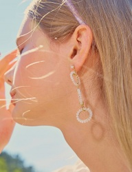 [bpb] Ice Bubble Unbalance Earring [White]