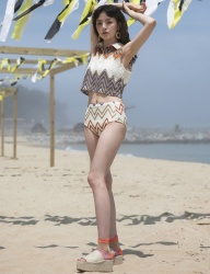[1159STUDIO] MH6 WAVE KNIT SWIMSUIT_OR