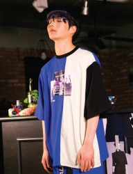 [swallowtale] Swallowtale 3 color combination T-shirts[Blue]