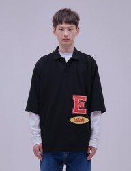 [ENZO BLUES] OVERSIZE WAPPEN POLO T