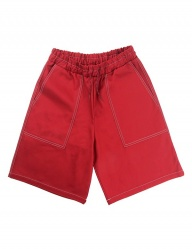 [ENZO BLUES] HEAVY TWILL SHORT PANTS_RED
