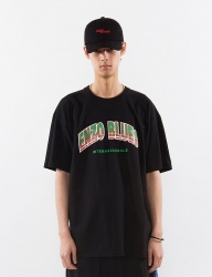 [ENZO BLUES] ARCH LOGO T-SHIRT_BLACK