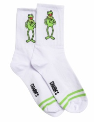 [CHARMS] kermit body logo socks white