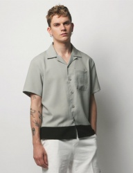 [METAPHER] 2Color Timeless Shorts shirt