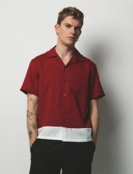 [METAPHER] 2Color Timeless Shorts shirt red