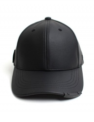 [UNIVERSAL CHEMISTRY] Leather Long Back Strap Ballcap