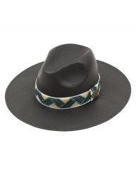 [UNIVERSAL CHEMISTRY] Cool Line Summer Long Black Fedora