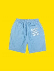 [DUCKDIVE] BTSD DENIM SHORT PANTS_SKY BLUE