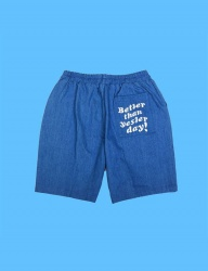 [DUCKDIVE] BTSD DENIM SHORT PANTS_BLUE