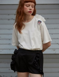 [Sorry, Too Much Love] wappen lace tee_white