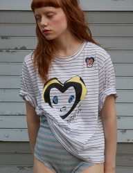 [Sorry, Too Much Love] rococo aegaein wappen tee_white stripe