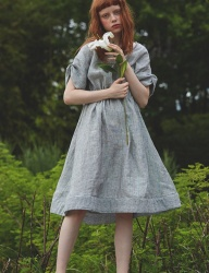 [Sorry, Too Much Love] lady linen dress_gray