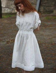 [Sorry, Too Much Love] lady linen dress_white