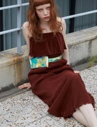 [Sorry, Too Much Love] shirring summer dress_brown