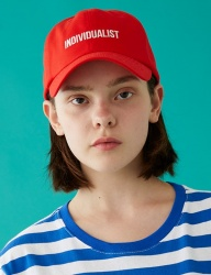 [MSKN2ND] INDIVIDUALIST BALL CAP RED