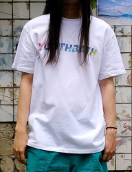 [youthbath] Logo Gradation short sleeve t-shirt white