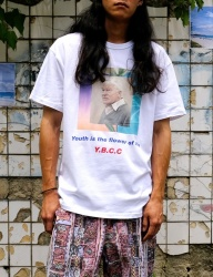 [youthbath] Old man graphic short sleeve t-shirt white