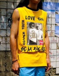 [youthbath] Funk sleeveless yellow