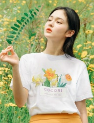 [GOCORI] FLOWER BASKET T-SHIRT