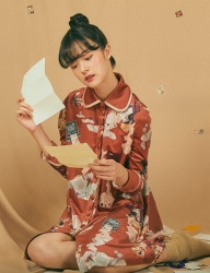 [GOCORI] LOVE LETTER SPY PAJAMA DRESS