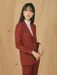 [GOCORI] RED BRICK SUIT JACKET