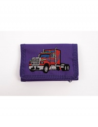 [youthbath] Chain lanyards wallet purple