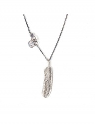 [AGINGCCC] 348# RED DOT FEATHER NECKLACE