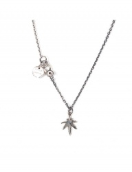 [AGINGCCC] 349# SMALL CANNABIS NECKLACE