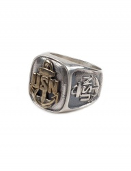 [AGINGCCC] 145# USN HHD RING BRASS