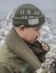 [AGINGCCC] 183# AKTS-05 ST WOOL WATCH CAP KAKHI