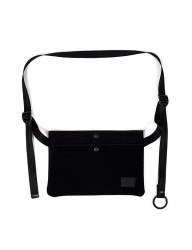 [AGINGCCC] 341# 2 POCKET P SACOCHE BAG-BLACK