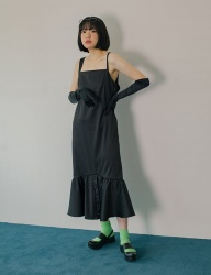 [PHILOCALY] Back drape black dress