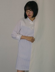 [PHILOCALY] Heartline stripe dress