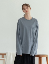 [TARGETTO] TGT POCKET LONG SLEEVE STONE GREY