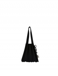 [JOSEPH&STACEY] Lucky Pleats Knit S Bling STARRY BLACK