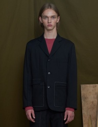 [UNALLOYED] 3 BUTTON JACKET [BLACK]