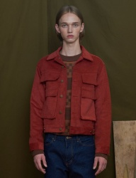 [UNALLOYED] CORDUROY JACKET [RED]