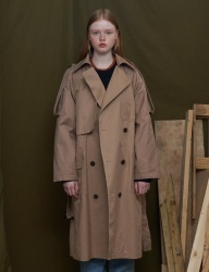 [UNALLOYED] RAGLAN TRENCH COAT [2 TONE BEIGE]