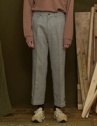 [UNALLOYED] WOOL CHECK TROUSER [GREY]