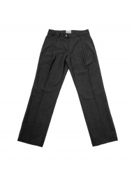 [SLOVEN MODE] Two Tuck Straight Slacks [Charcoal]