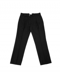 [SLOVEN MODE] Two Tuck Straight Slacks [Black]