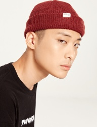 [IVORYPAPER] tap point ss short beanie