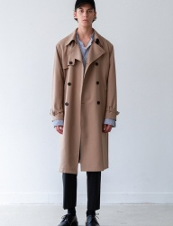 [INSILENCE] SLOSH WOOL TRENCH COAT (beige)