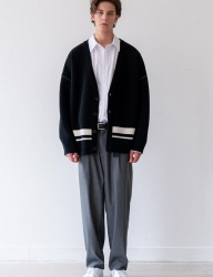 [INSILENCE] OVERSIZED WOOL CARDIGAN (black)